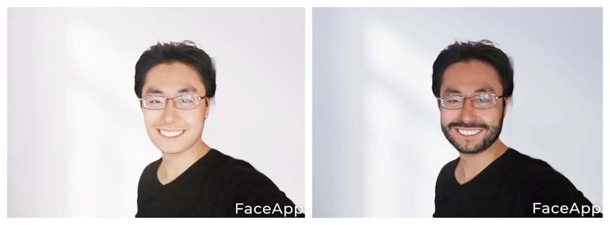 髭を生やした自画像