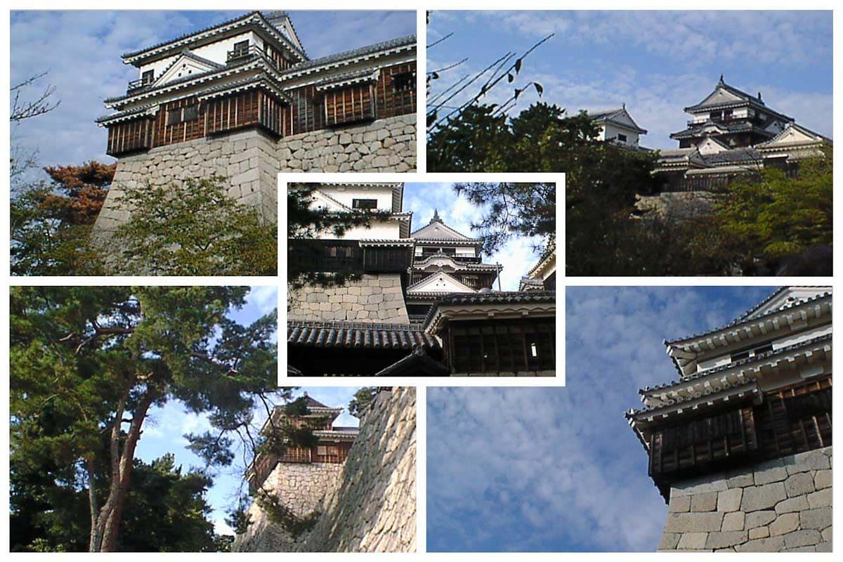 天気の良い日に撮影した松山城