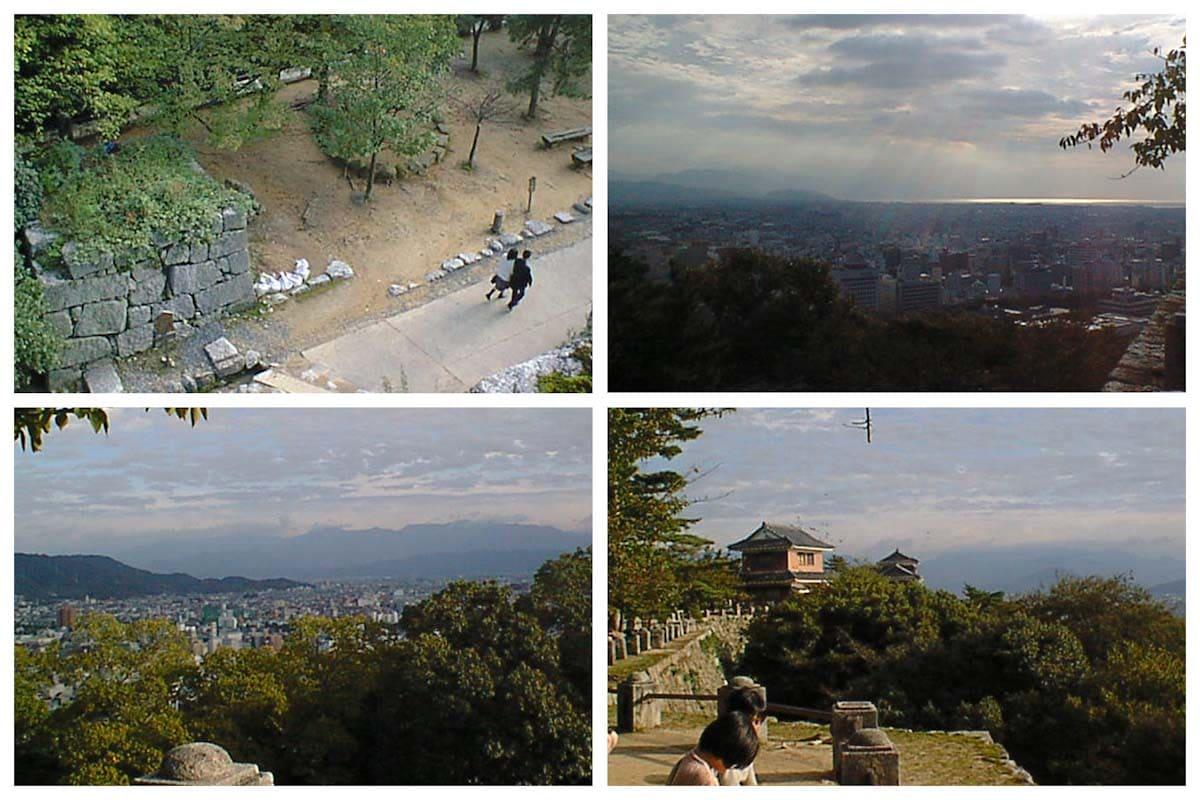松山城から見える街の風景