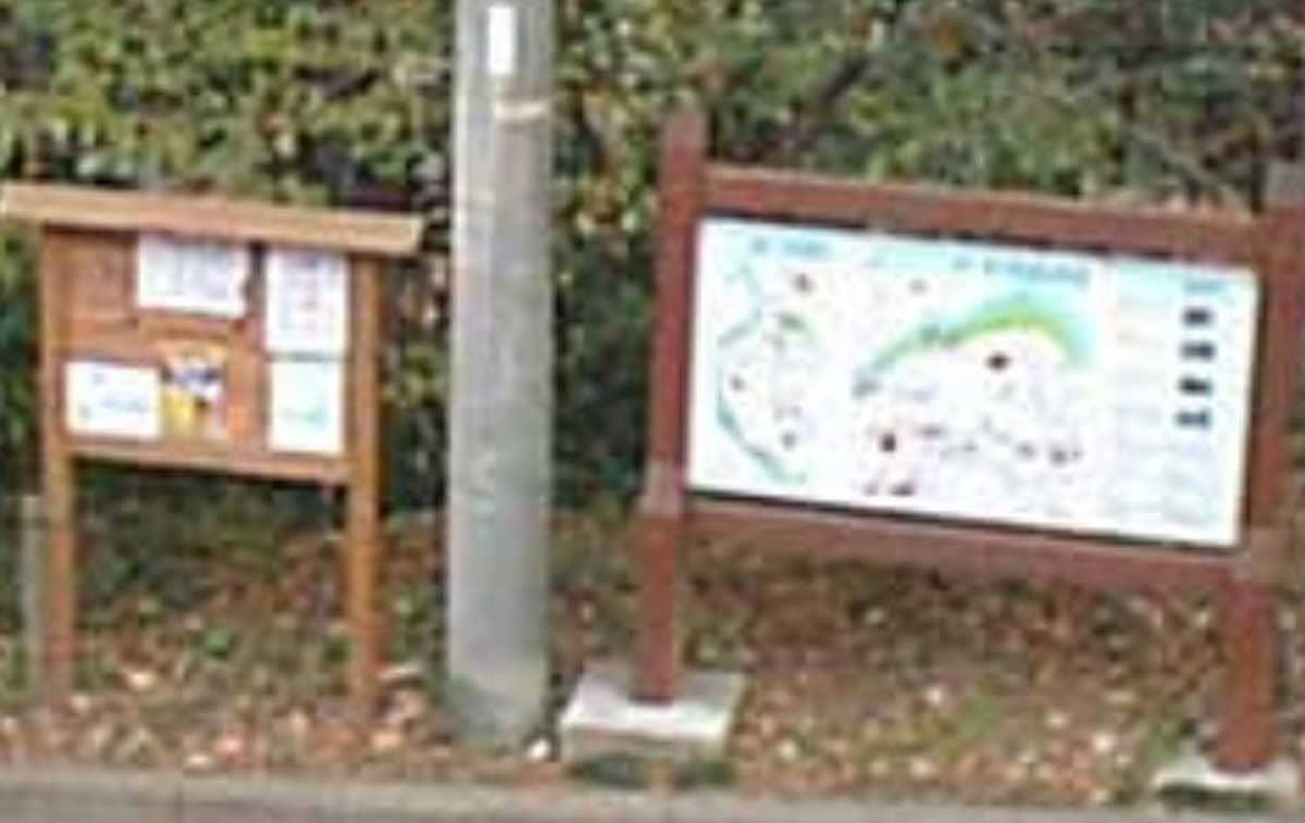 地図の案内板