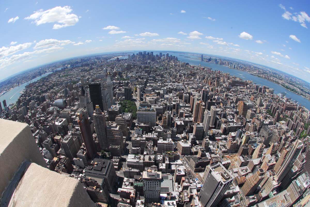 エンパイアステートビルの展望台から見た景色