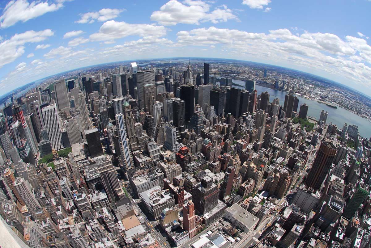 展望だから見たニューヨークの風景