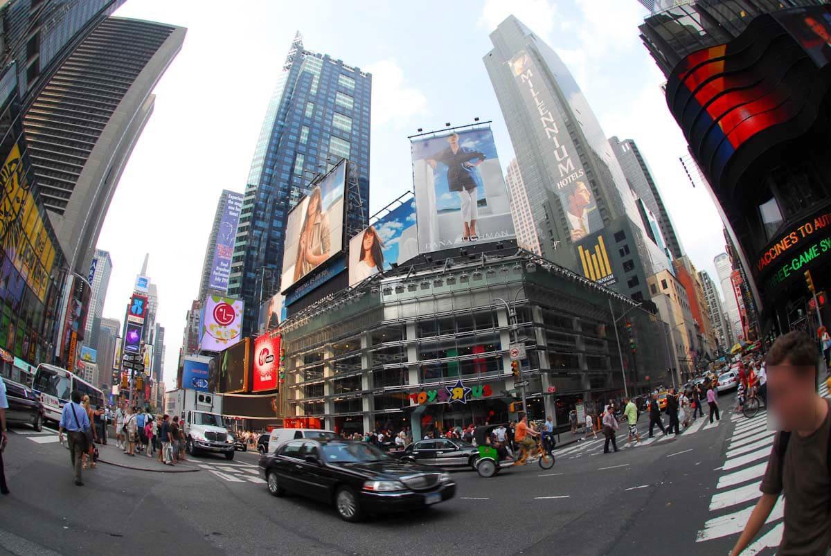 ニューヨークのタイムズスクエア付近