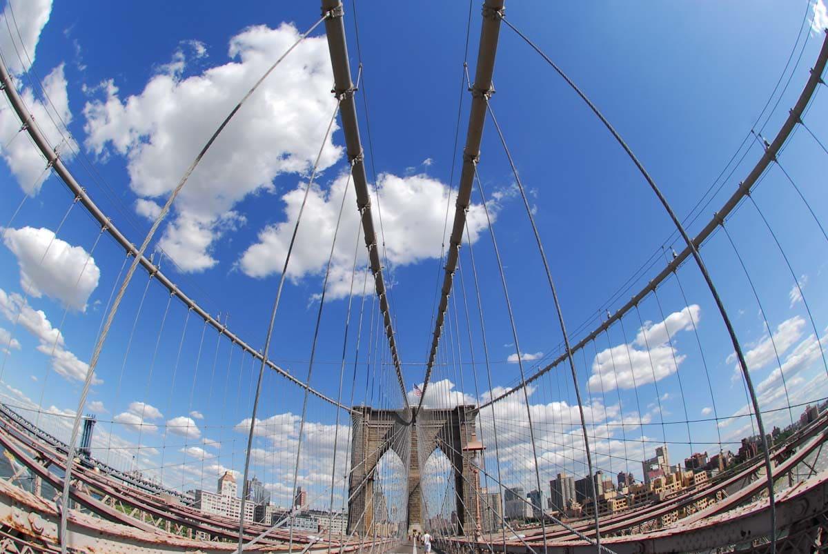 ブルックリン橋の正面