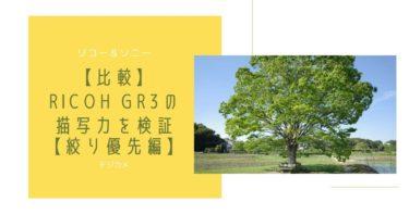 【比較】RICOH GR3の描写力を検証【絞り優先編】