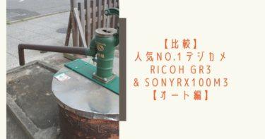 【比較】RICOH GR3 & RX100M3『写り』を検証【オート編】