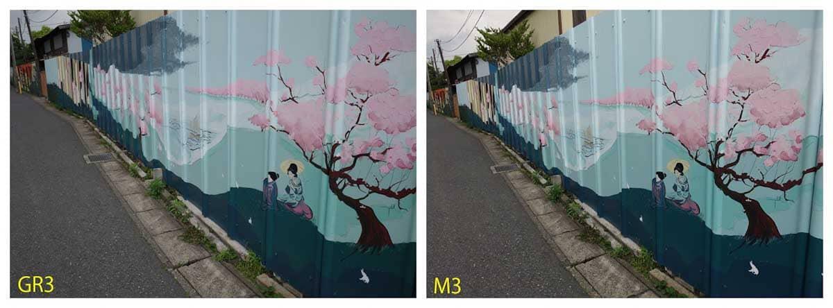 桜の絵が描かれた歩道