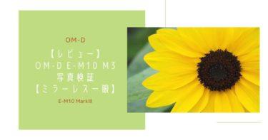 【レビュー】オリンパス E-M10M3の写真検証【ミラーレス一眼】