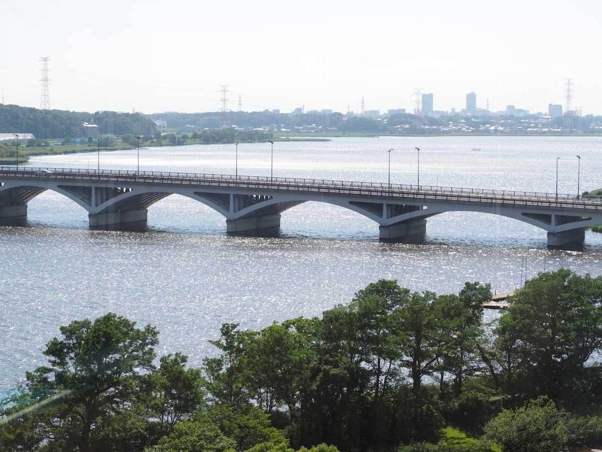 展望台から見た橋