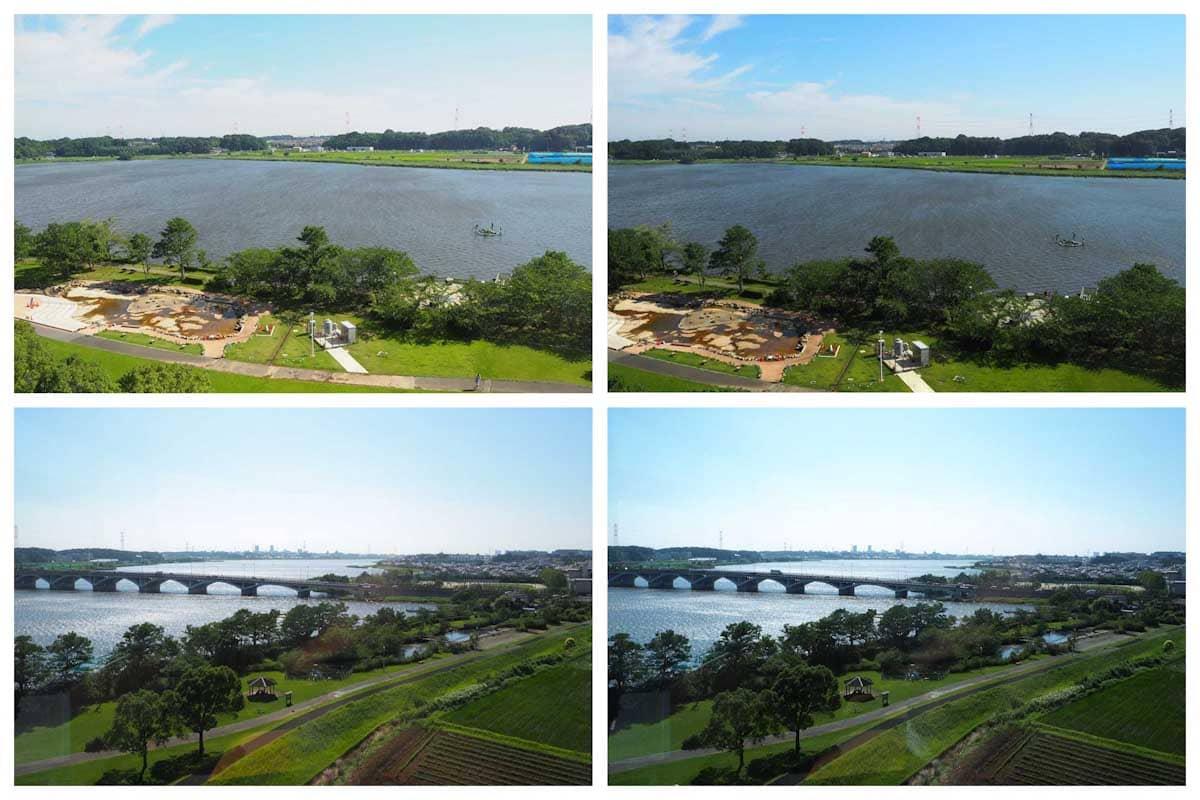 展望台から見える湖の景色