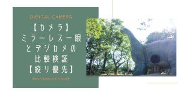 【カメラ】ミラーレス一眼とデジカメの『写り』を検証【絞り優先モード】