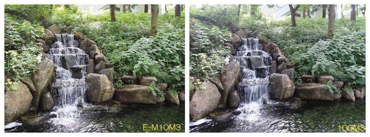 公園にある小さな滝