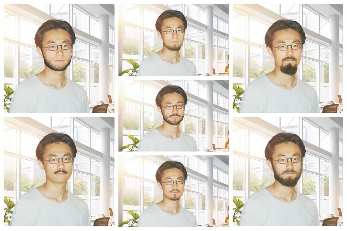 髭を生やした男