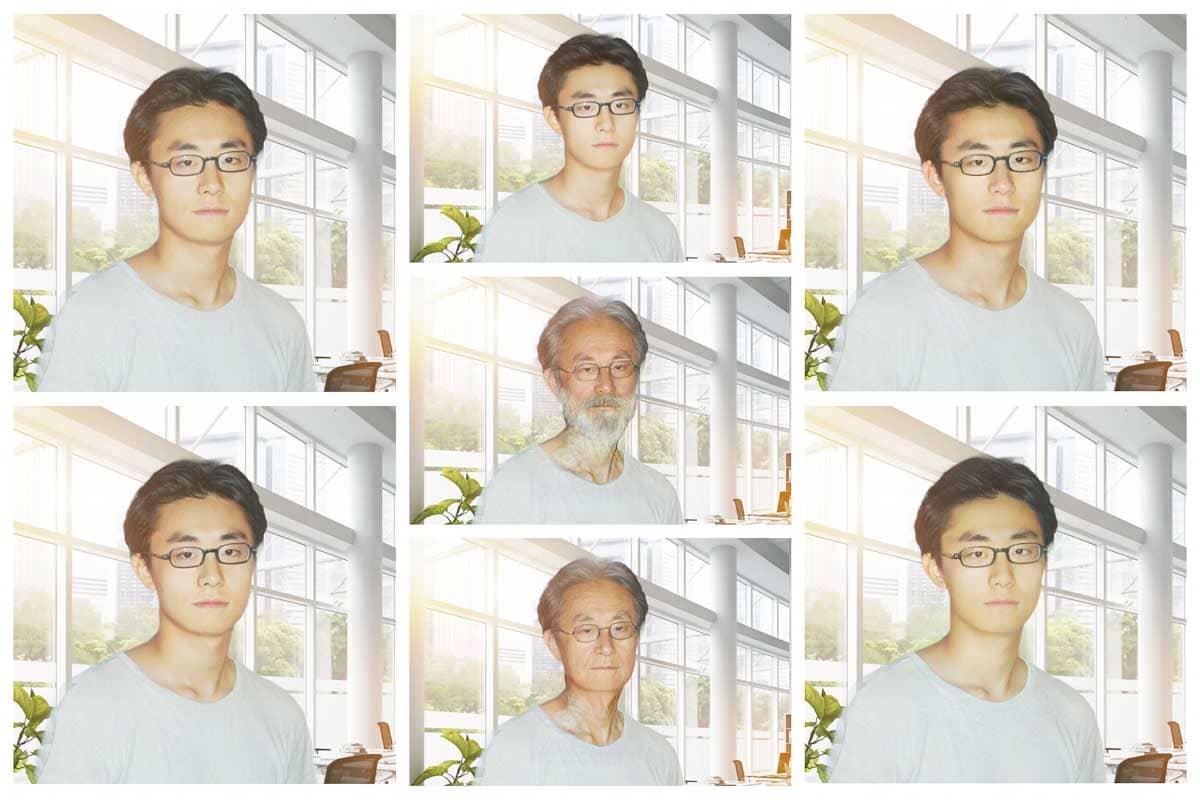 10代の男性と老人