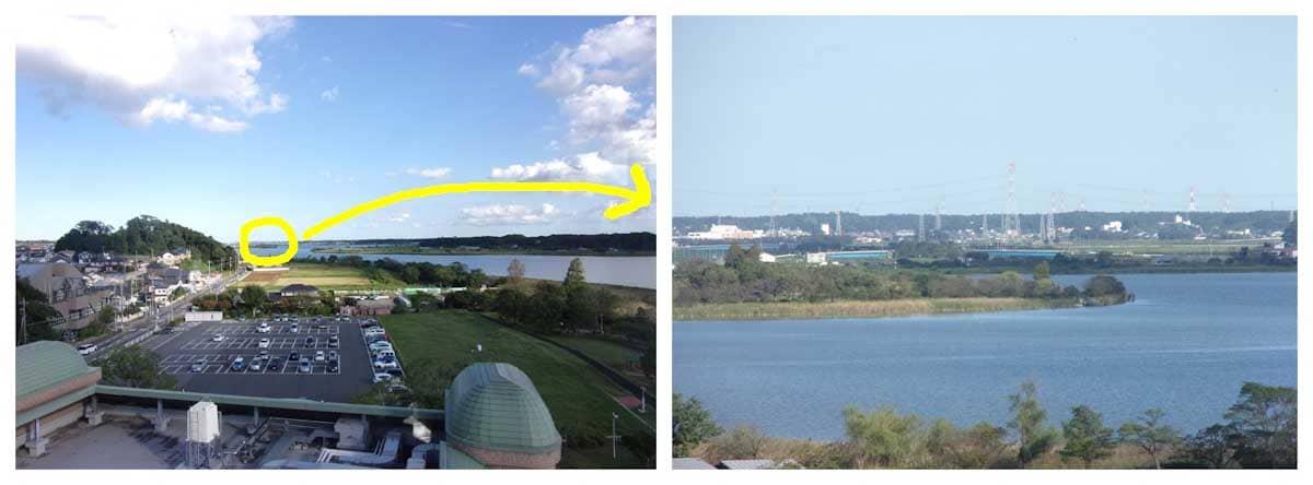 展望台から見た湖
