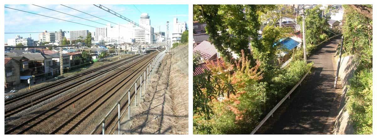 線路と一本道