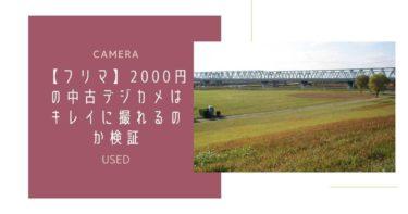 【フリマ】12年前の2000円デジカメはキレイに撮れるのか検証