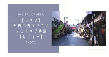 【フリマ】千円の中古デジカメをスナップ検証【レビュー】