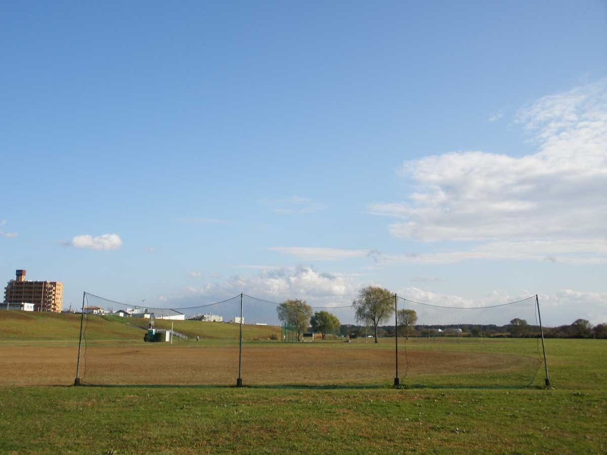 青空と緑地