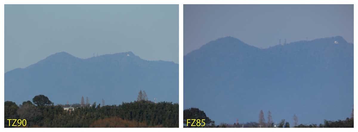 千葉県から見た筑波山の望遠写真