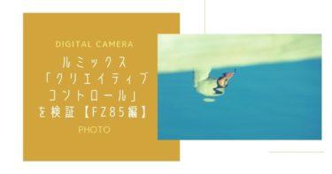 ルミックスの「クリエイティブコントロール」を検証【FZ85編】