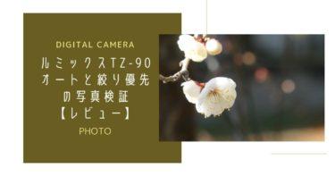 ルミックスTZ-90のオート撮影と絞り優先の写真検証【レビュー】