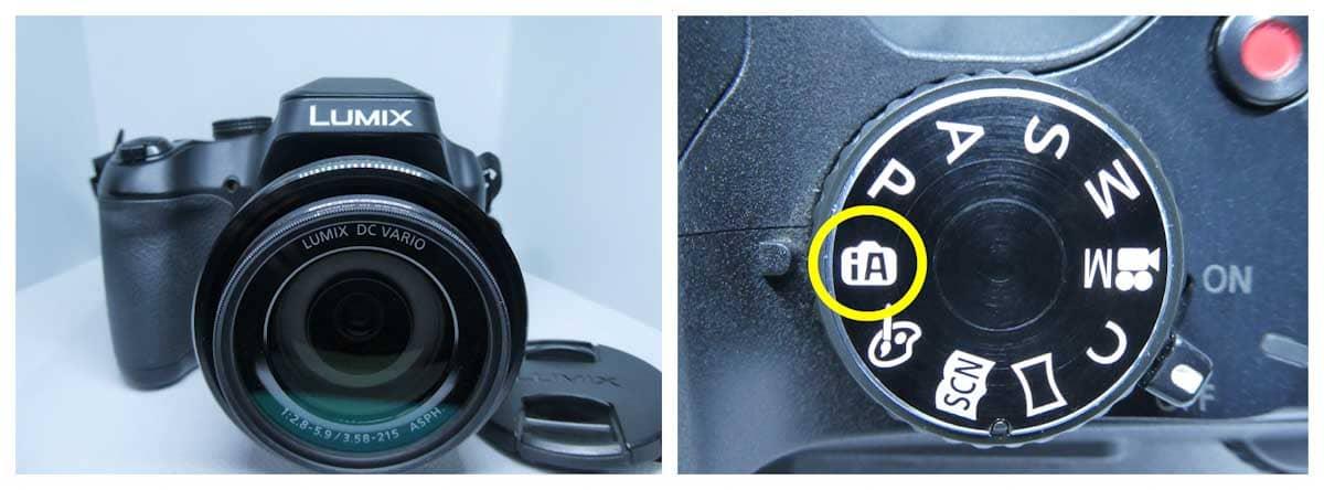 lumix dc-fz85カメラのボディとボタン