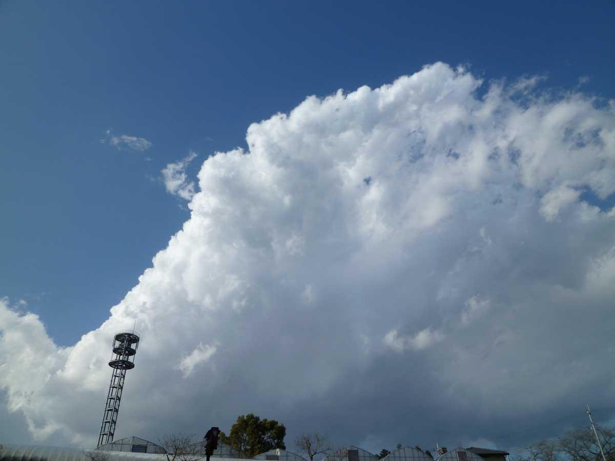 青空と大きな真っ白な雲