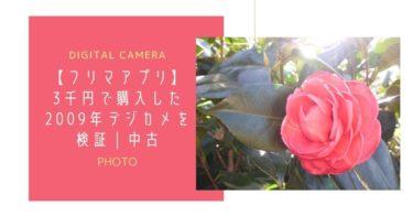 【フリマアプリ】3千円で購入した2009年デジカメを検証|中古