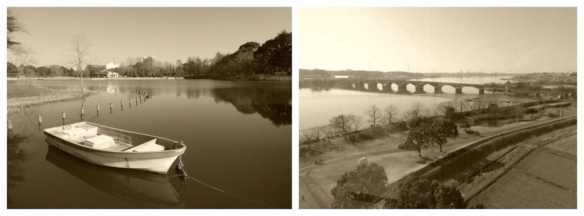 ボートと湖