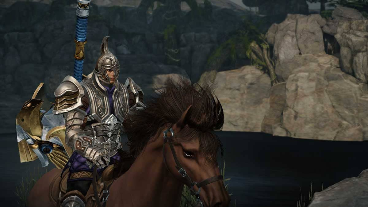 馬に乗った鎧を着た戦士
