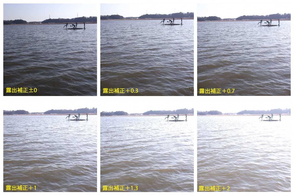 湖に浮かぶ人型の像