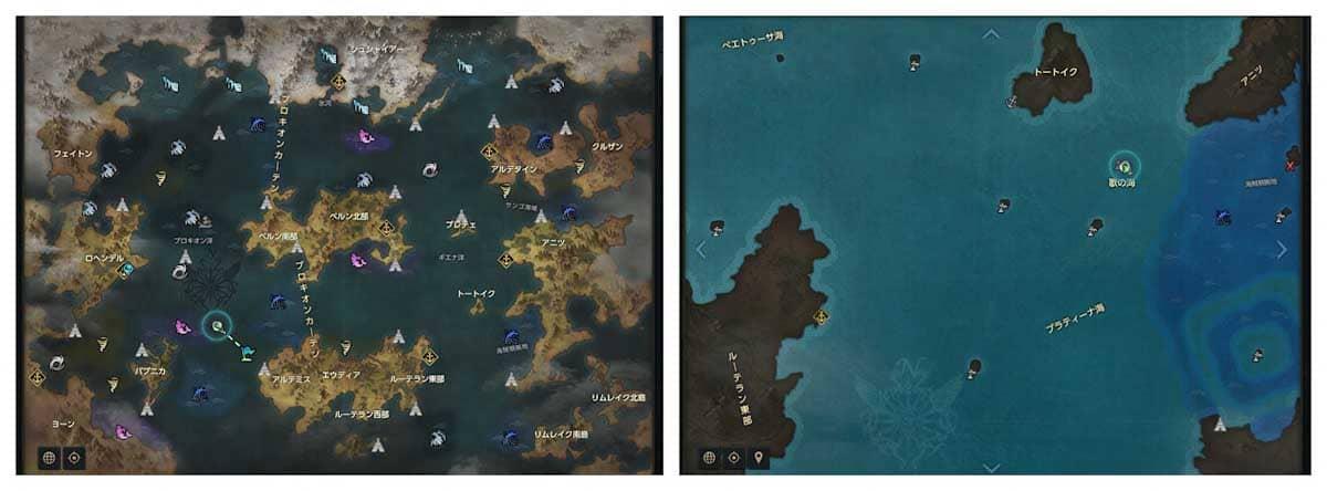 ロストアークの世界図